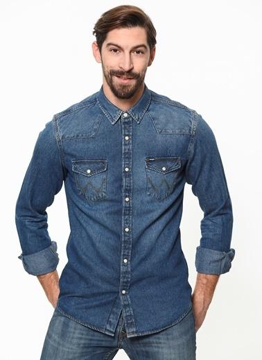 Wrangler Jean Gömlek İndigo